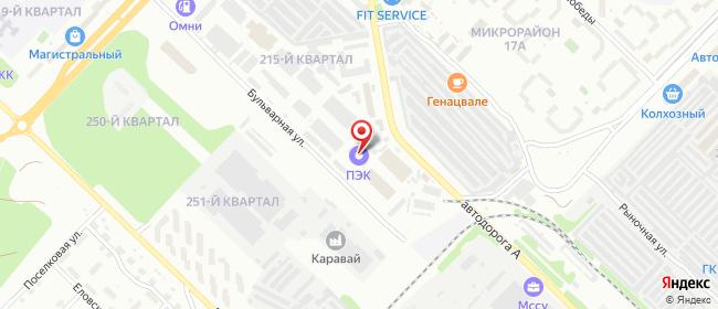 Карта расположения пункта доставки Ангарск в городе Ангарск