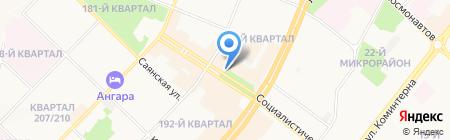 Киоск по продаже мороженого на карте Ангарска