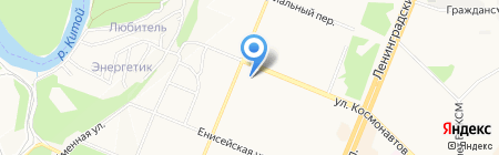 Пластик на карте Ангарска