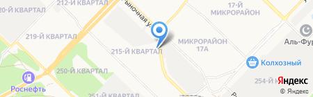 АЗС на ул. 215-й квартал на карте Ангарска