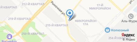 Сеть магазинов автозапчастей на карте Ангарска