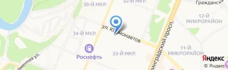 Ленаир на карте Ангарска