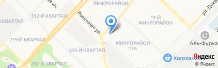 Магазин европейских автозапчастей на карте Ангарска
