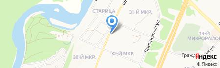 Шиномонтажная мастерская на ул. 32-й микрорайон на карте Ангарска