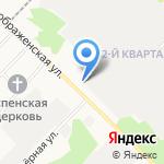 Регистрационно-экзаменационный отдел ГИБДД на карте Ангарска