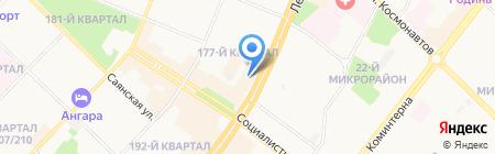 Вэритэс на карте Ангарска