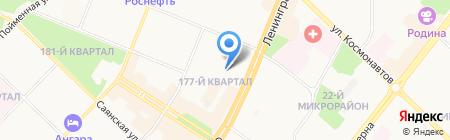 Огонёк на карте Ангарска