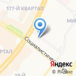Сытый папа на карте Ангарска
