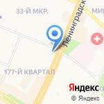 Сластена на карте Ангарска