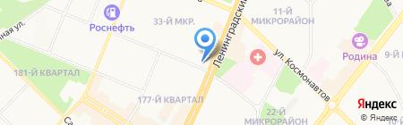 Банкомат АКБ СКБ-банк на карте Ангарска