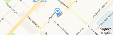 Участковый пункт полиции №5 на карте Ангарска