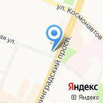 Московская ярмарка на карте Ангарска