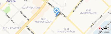 Центральная городская библиотека на карте Ангарска