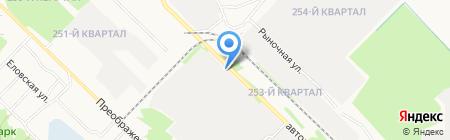 МССУ на карте Ангарска