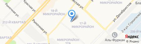 Калинка на карте Ангарска