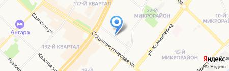 Ателье на ул. 19-й микрорайон на карте Ангарска