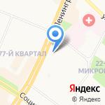 Невский на карте Ангарска