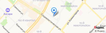 ЦБС на карте Ангарска