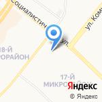 Ксения на карте Ангарска