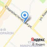 Киоск по продаже молочной продукции на карте Ангарска