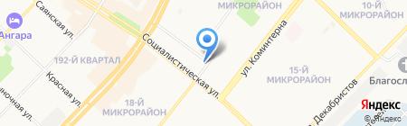Астра на карте Ангарска