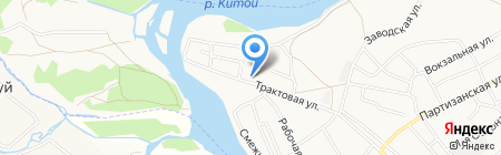 Средняя общеобразовательная школа №11 на карте Ангарска