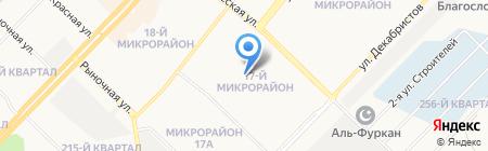 Средняя общеобразовательная школа №17 на карте Ангарска