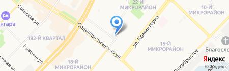 Ангарское объединение потребителей на карте Ангарска