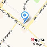 Железнодорожник на карте Ангарска