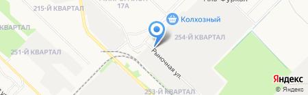 Шиномонтажная мастерская на ул. 17-й микрорайон на карте Ангарска