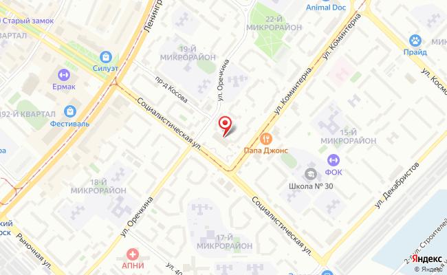 Карта расположения пункта доставки Westfalika в городе Ангарск