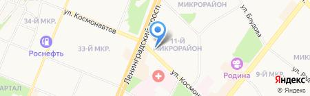 Елена на карте Ангарска