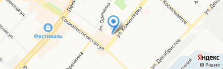 Стефания на карте Ангарска