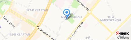 Автостоянка на ул. 22-й микрорайон на карте Ангарска