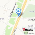 Ленинградский проспект на карте Ангарска