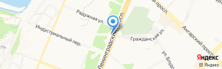 Автостоянка на ул. 12-й микрорайон на карте Ангарска