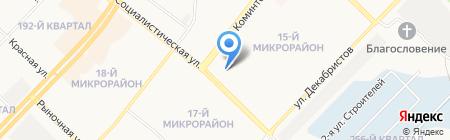 Городской женский совет на карте Ангарска