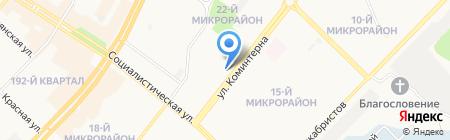 Банкомат Хоум Кредит энд Финанс банк на карте Ангарска