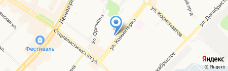 БАНК УРАЛСИБ на карте Ангарска