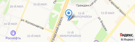 Живея на карте Ангарска
