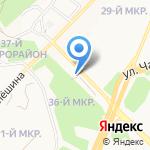 Ангарский проспект на карте Ангарска