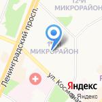 Средняя общеобразовательная школа №7 на карте Ангарска