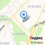 Омега-спорт на карте Ангарска