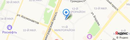 Юбилейный на карте Ангарска