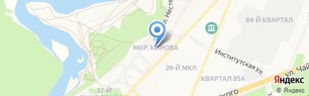 Шинdorado на карте Ангарска