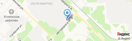 Деталь на карте Ангарска