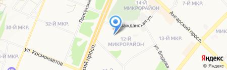 Детский сад №73 на карте Ангарска