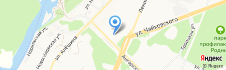 Валерия на карте Ангарска