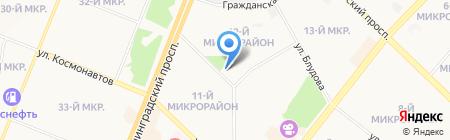 Любава на карте Ангарска
