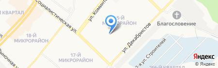 Средняя общеобразовательная школа №30 на карте Ангарска